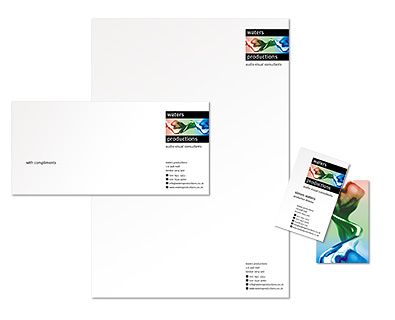 Waters stationery design